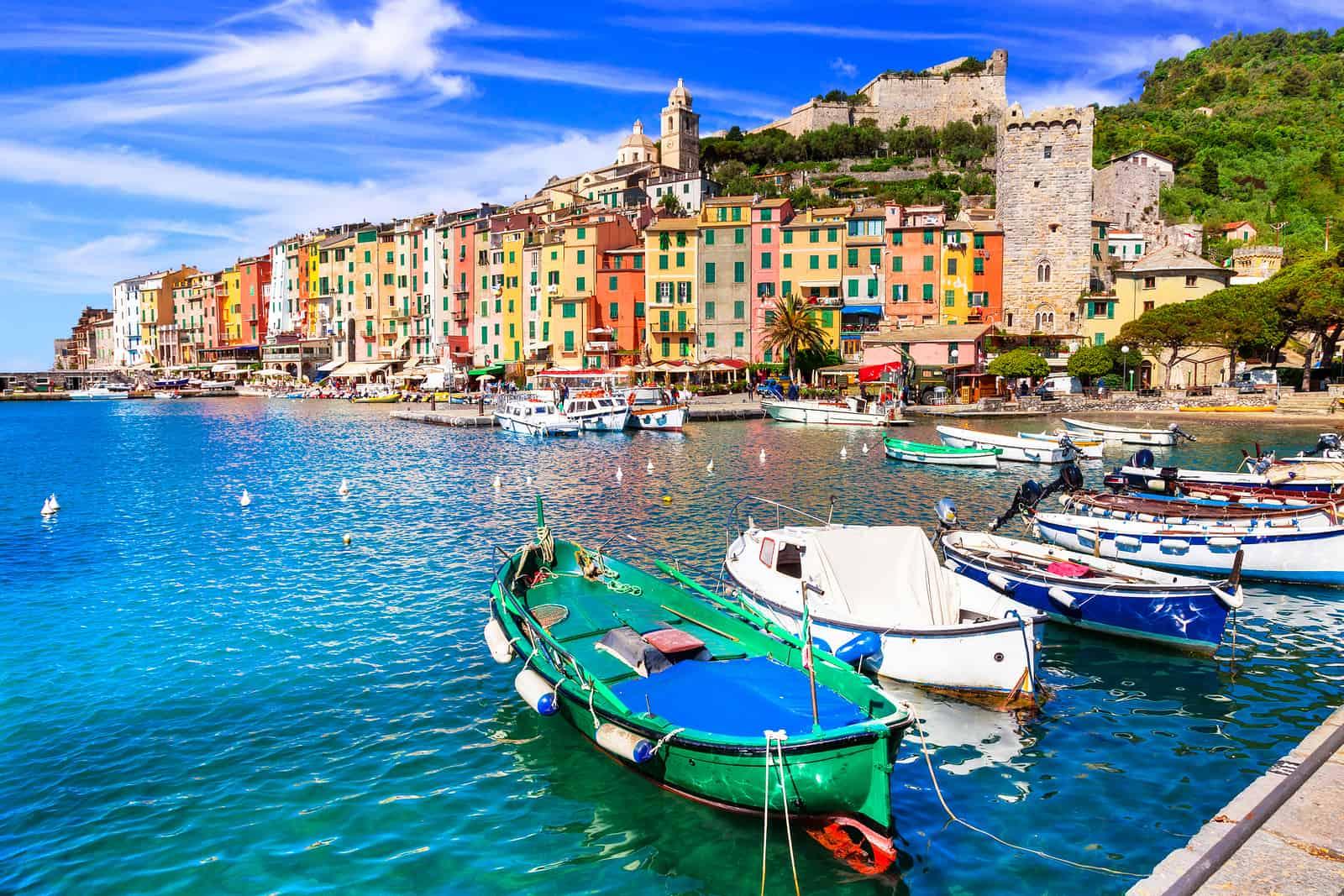 "Beautiful coastal town Portovenere in ""cinque terre"" national pa"