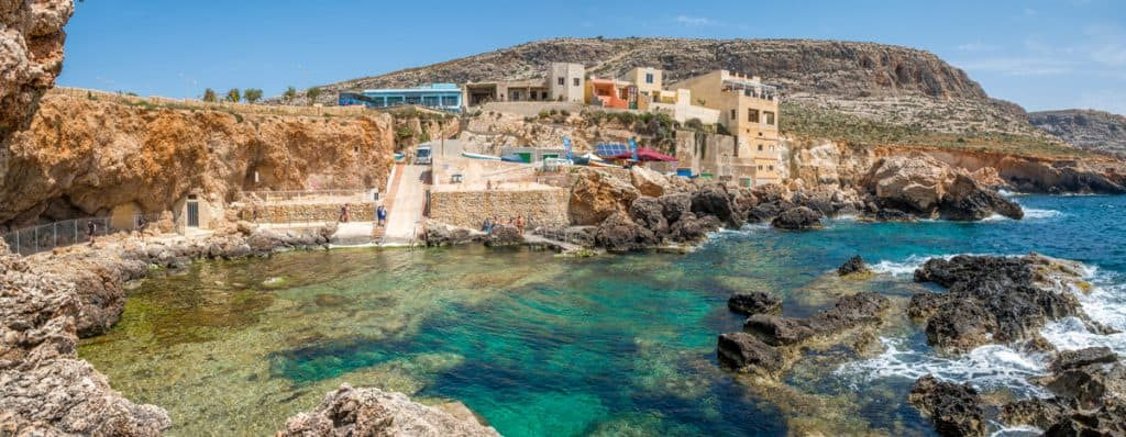 Malta 7 Places you can't miss - Ghar Lapsi bay